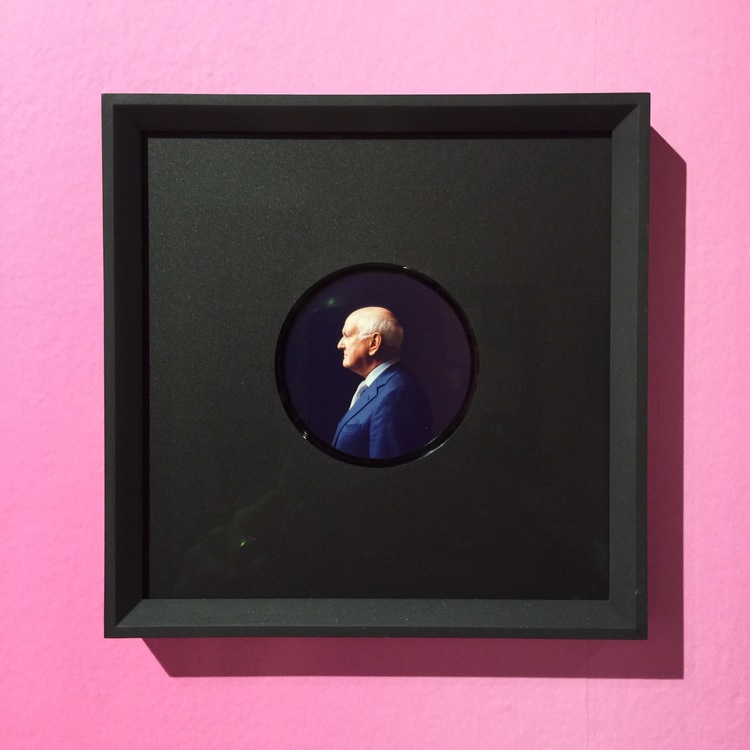 This modern miniature surprises with a contempory photo portrait.