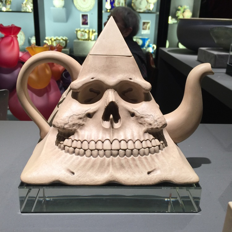 This toothy teapot greeted guests as they entered Michele Beiny's space.