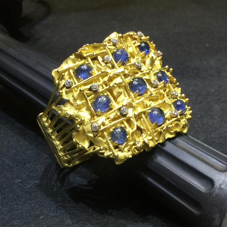 While I do not typically focus on jewelry, this stunning sapphire and diamond piece from Didier Ltd. caught my eye. Didier specializes in jewels by leading Modern Masters, painters and sculptors who are recognized internationally for their art, while the fact that they also created jewels comes as a surprise.