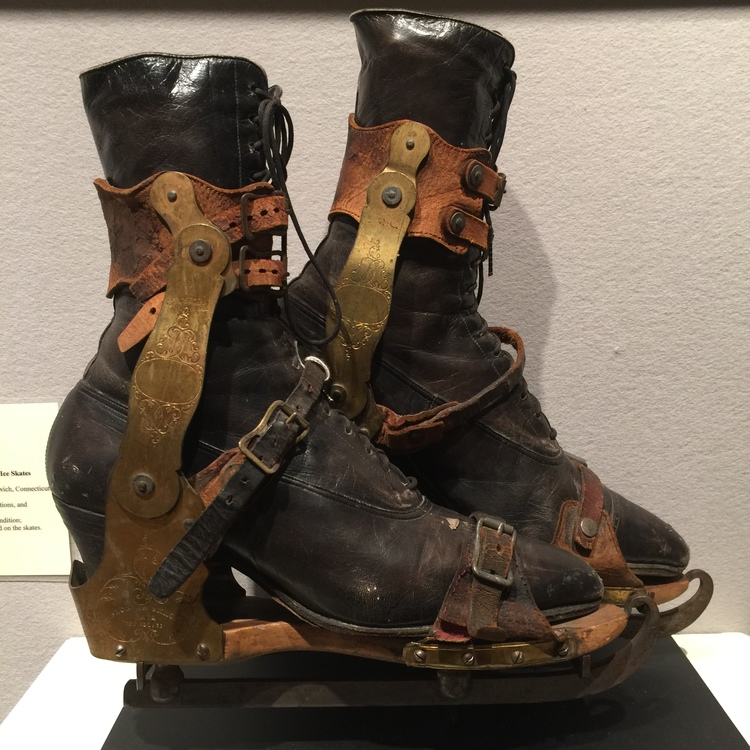 Tillou Gallery offered a pair of J. F. Bloudin Patent Ice Skates, circa 1860.