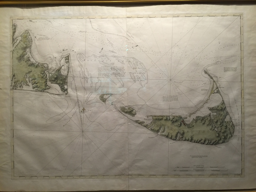 With ties to Nantucket, I could not resist this antique map of the Gray Lady offered by The Old Print Shop, Inc.