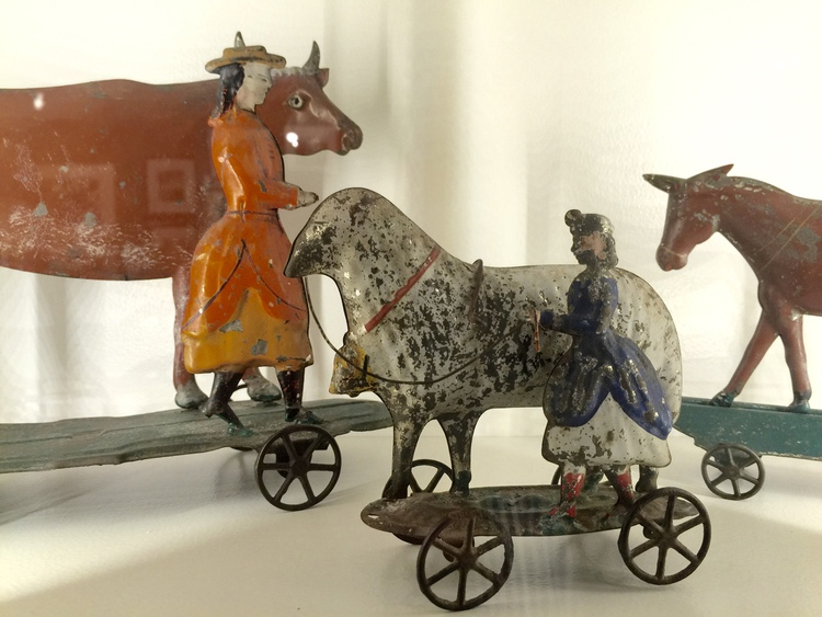 Gemini Antiques Ltd. showcased an amazing collection of antique metal toys.