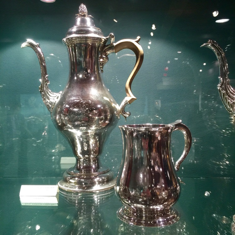S. J. Shrubsole Corporation showcased an amazing collection of early American silver pieces.