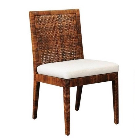 Cane wrapped chair produced by Bielecky Bros.