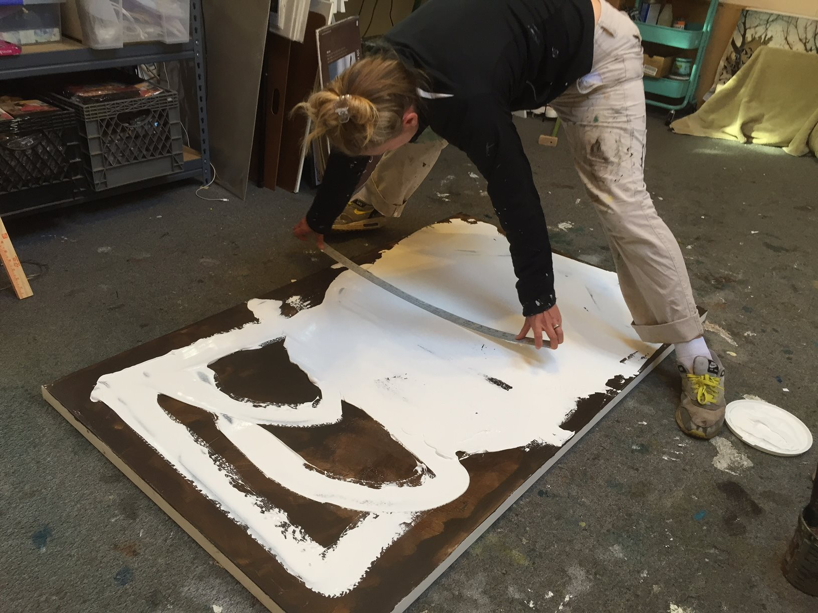 Prepping the canvas with texture
