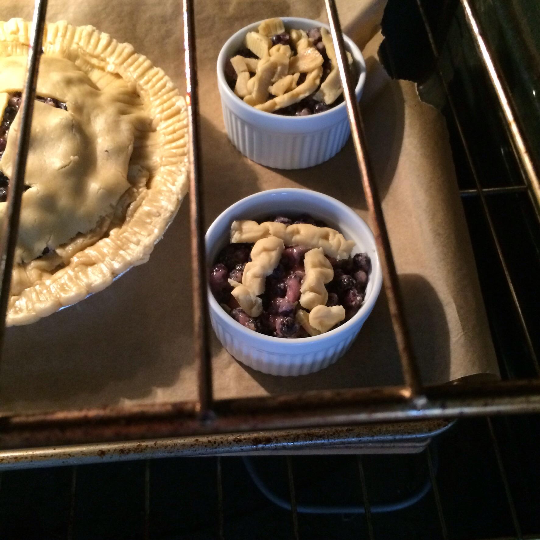 Mini pi pie in a ramekin