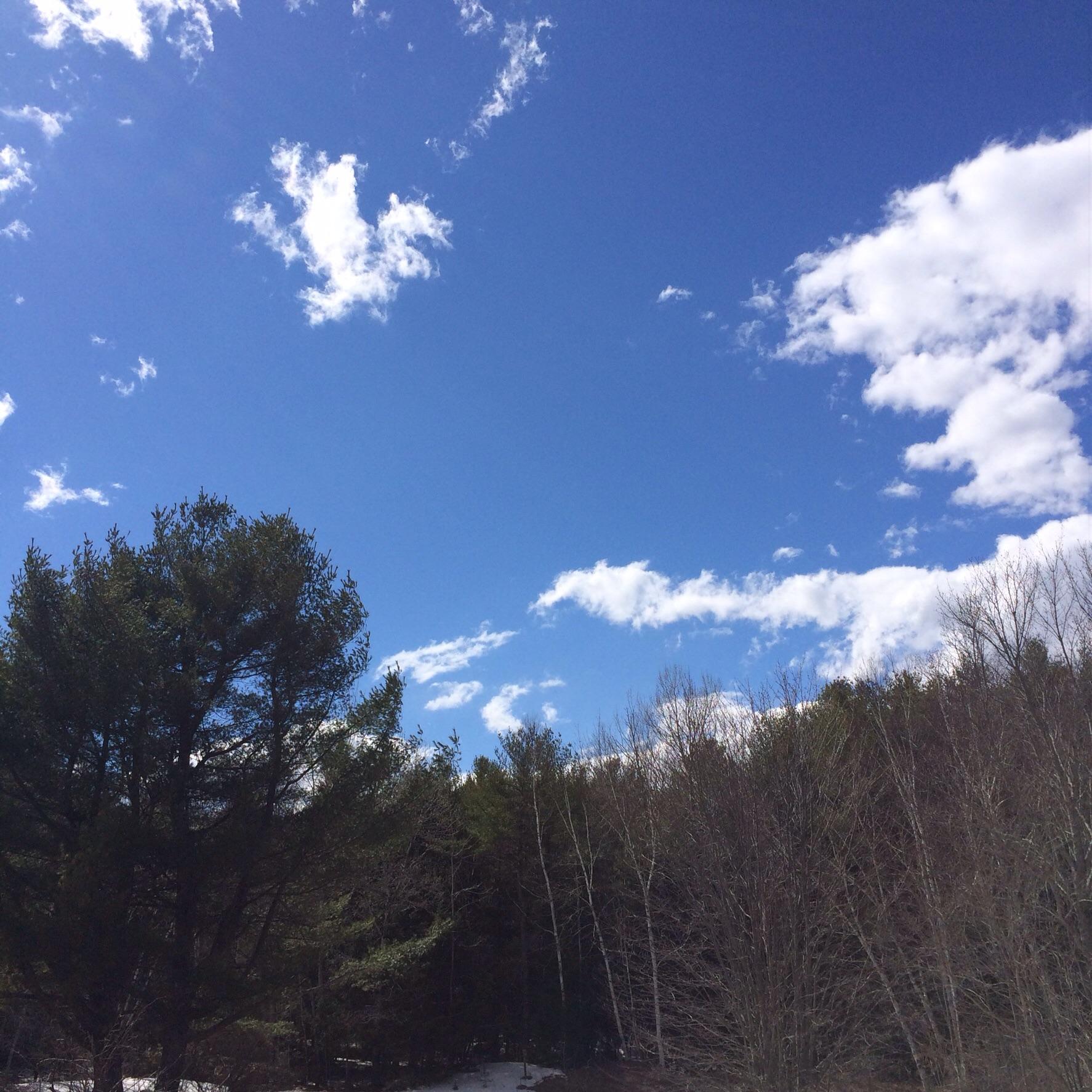 Grateful for big, blue skies.