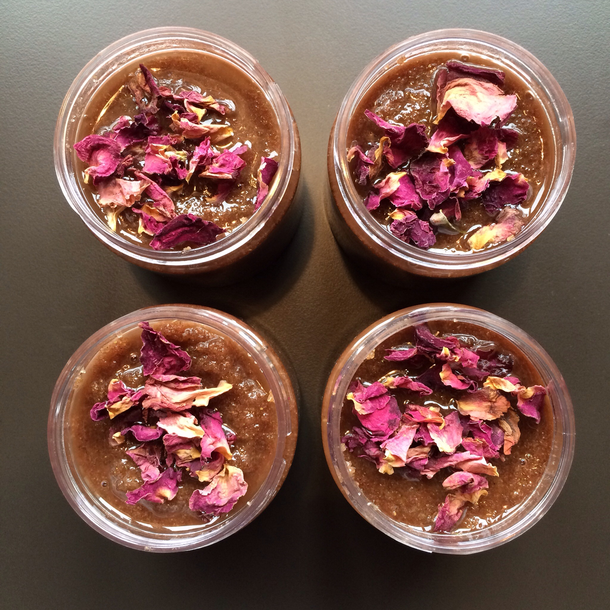 Rose sugar scrub. More about this later.