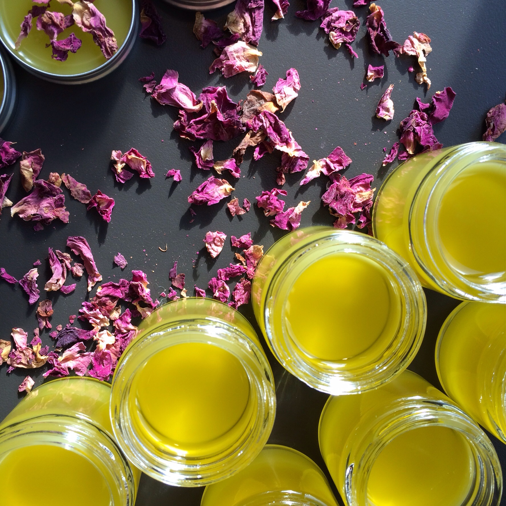 Roses & Honey Salve also comes in 1 oz glass jars without rose petals