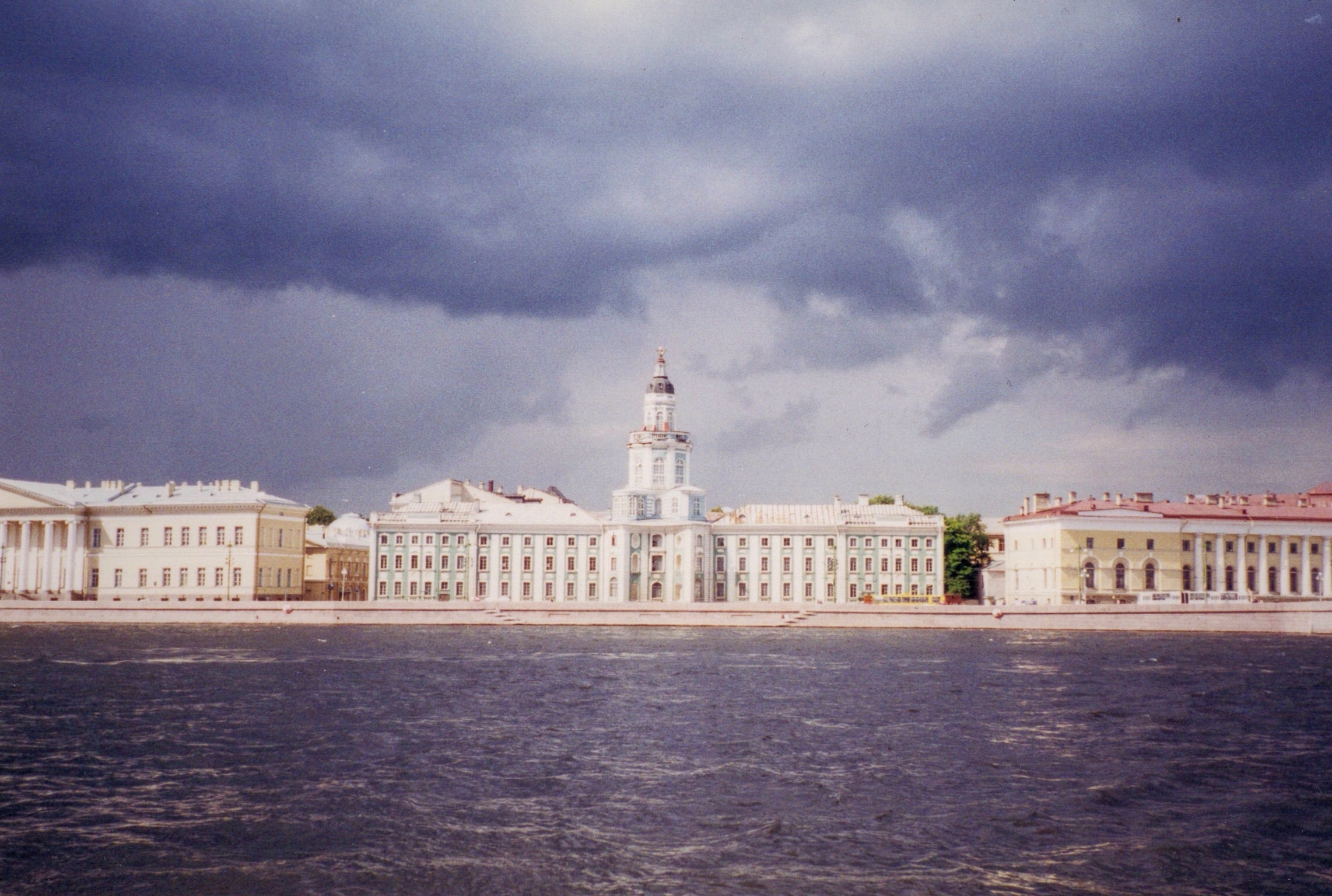 Across from the Hermitage, the Kunstkamera, the first museum in Russia.
