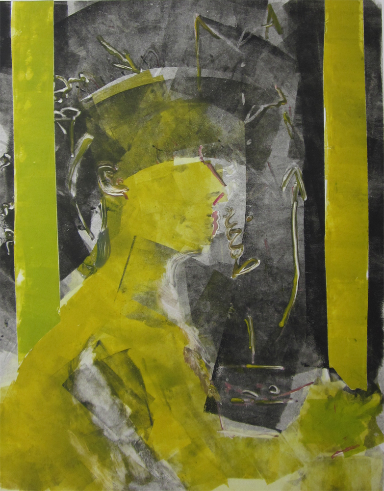 "Joseph Beuys (lighter)	30"" x 22""	monotype 2010"