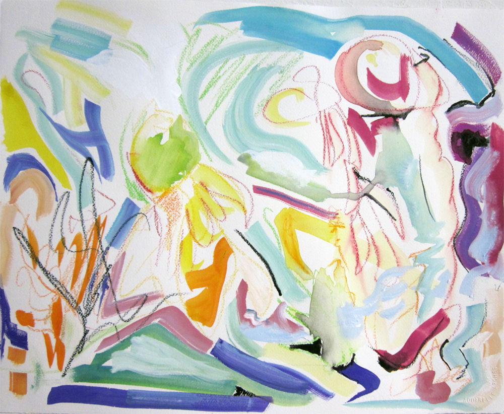 "Untitled (Botanical)	16"" x 20""	gouache on paper		2011"