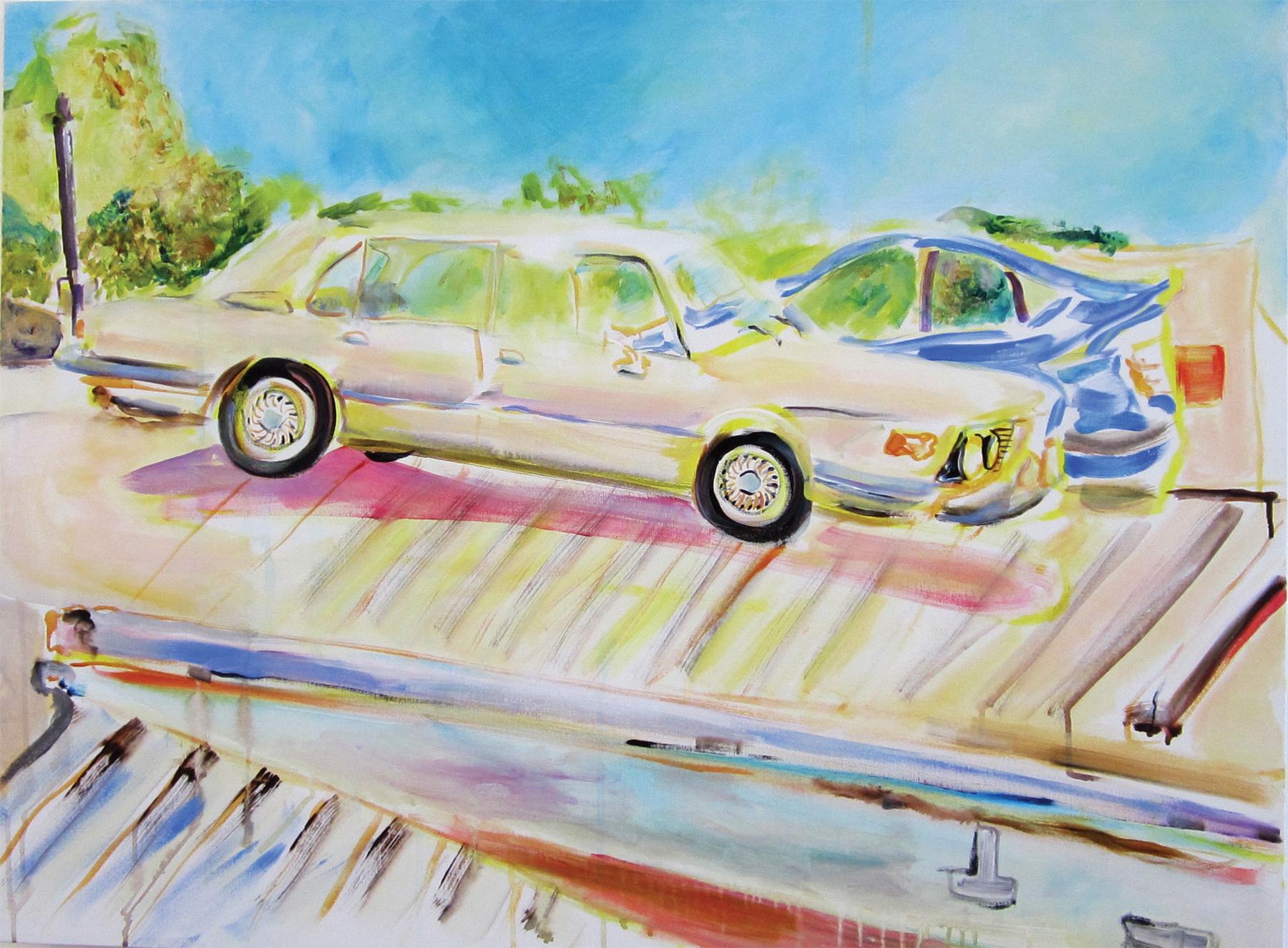 """1976 BMW 530iacrylic on canvas30"""" x 40""""2012"""