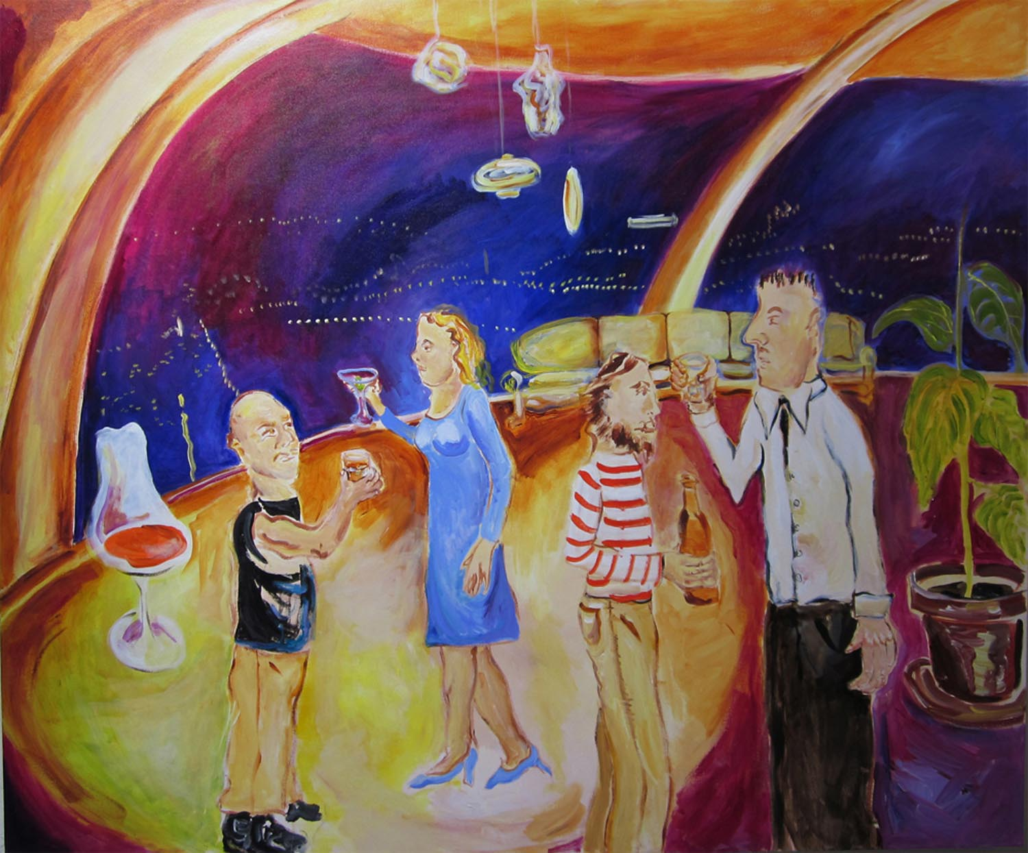 "Chemosphere	60"" x 72""	acrylic on canvas	2010"
