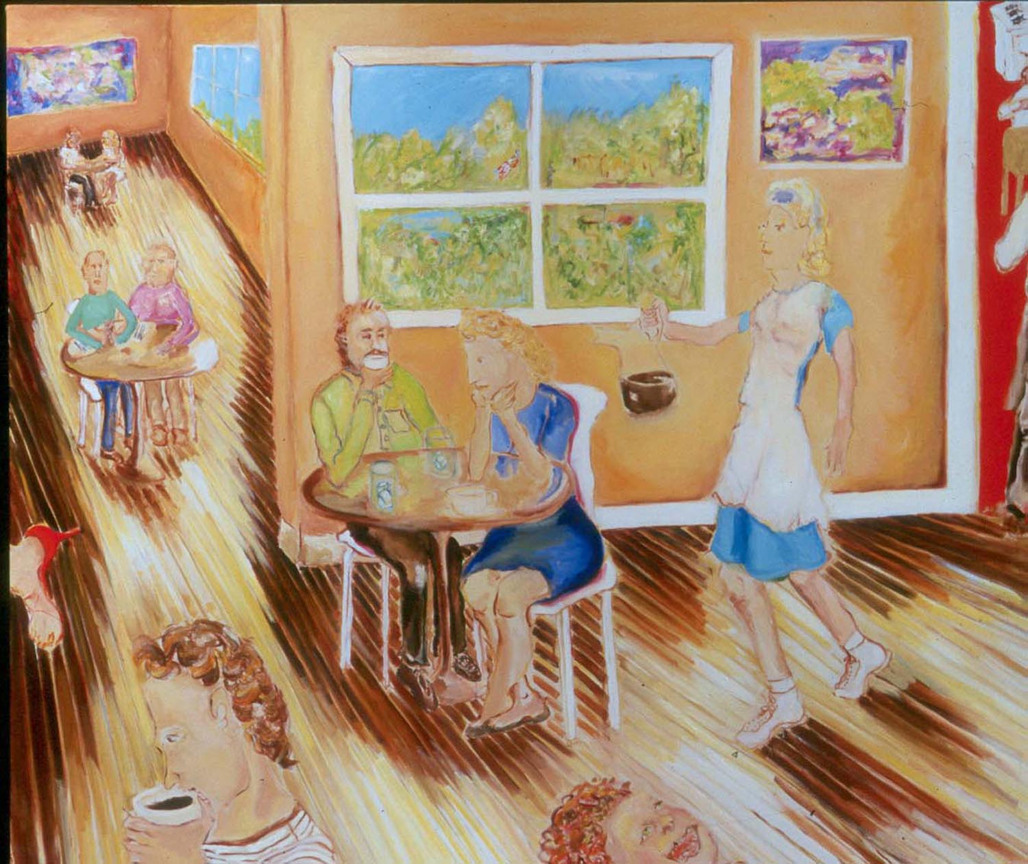 "Café Society, oil on canvas, 60"" x 72"", 2006"