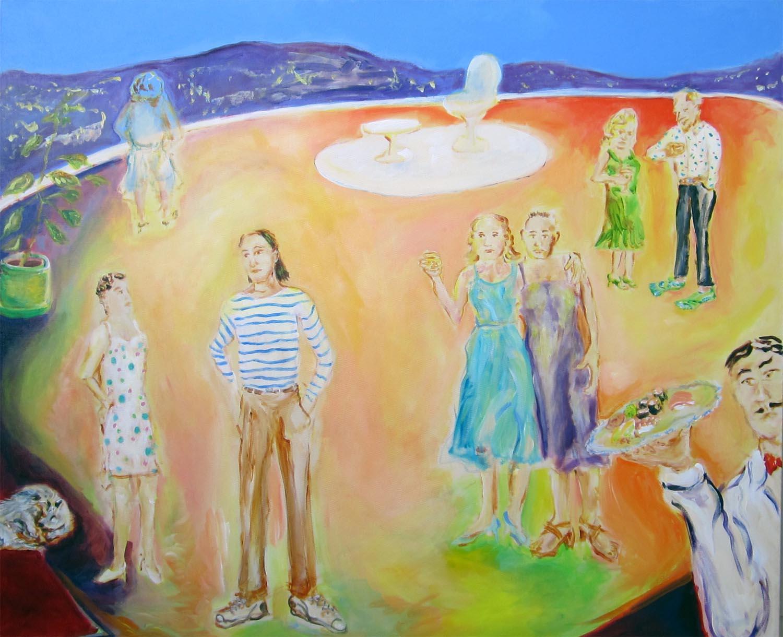 "Over the Horizon, acrylic on canvas, 40"" x 48"" 2013"