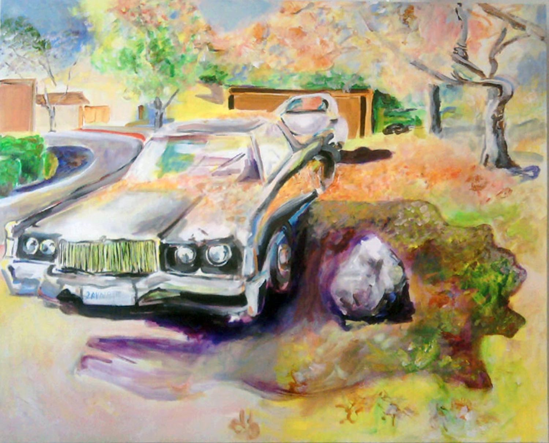 "Fall Lincoln, acrylic on canvas, 48"" x 60"" 2013"