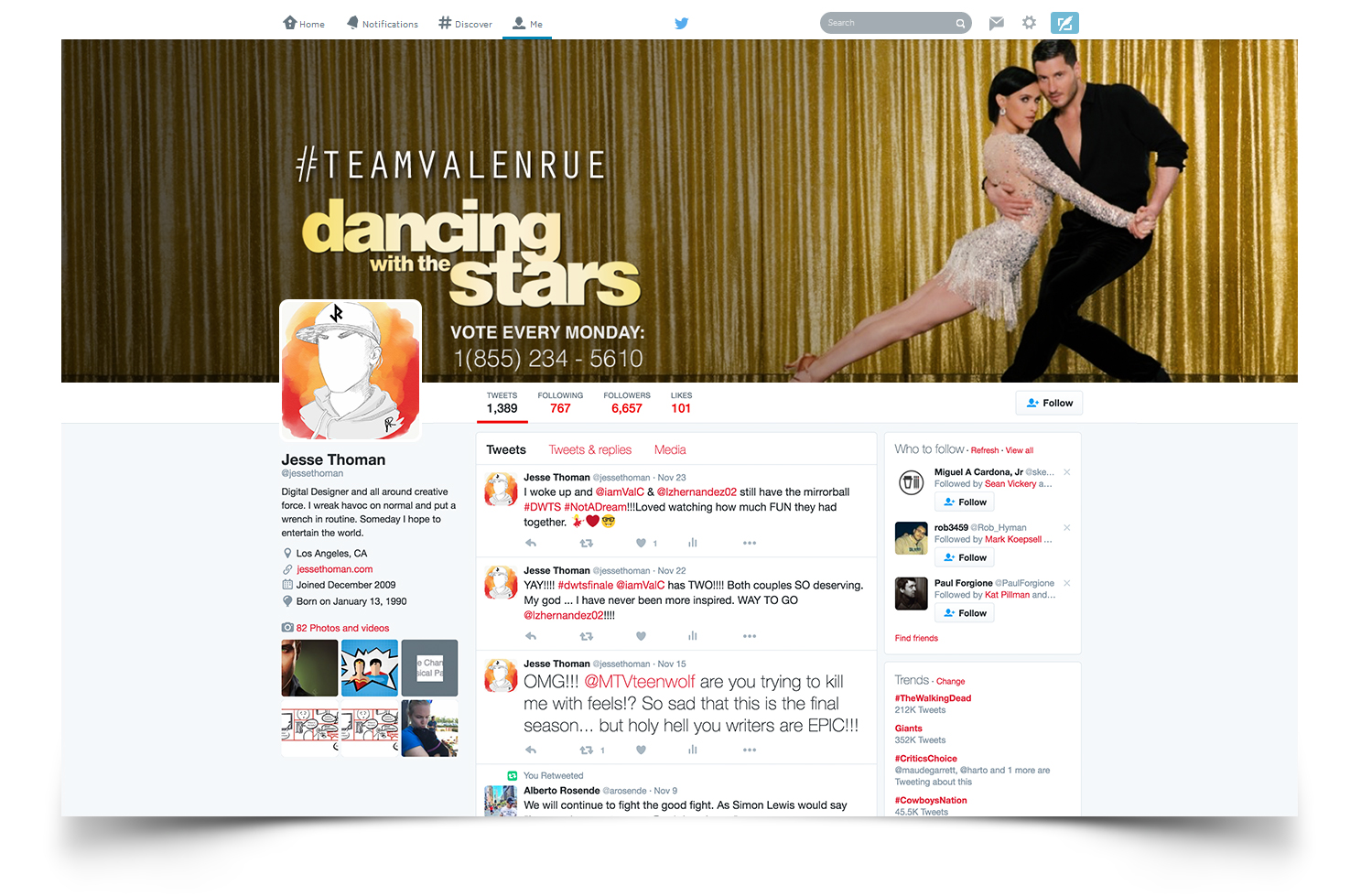 A Twitter header I created that Rumer Willis herself had as her header for the finale of Dancing With The Stars.