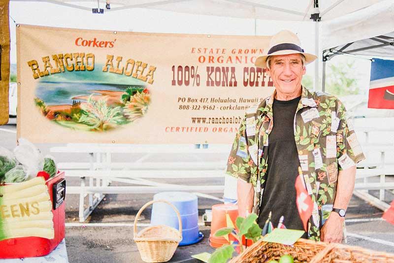 RANCHO ALOHA - Certified organic 100% Kona Coffee, fruits. More information can be found on our website, Rancho Aloha.Lisa and Bruce Corker75-5760 Mamalahoa Highway, Holualoa, HI 96725808 322-9562coffee@ranchoaloha.com