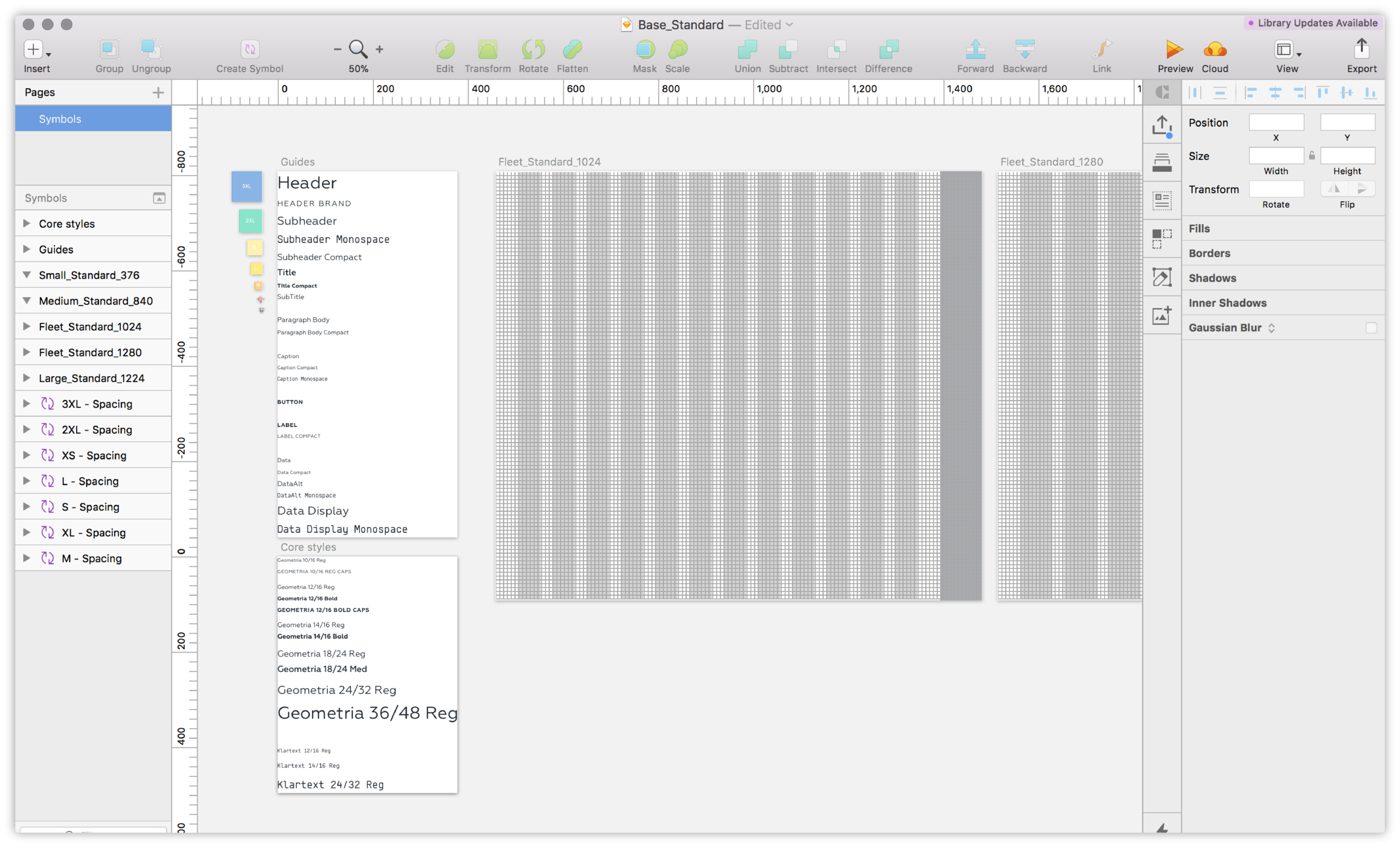 Setting standards - Tackling design standardization across our products for grid, spacing, terminology and typography.