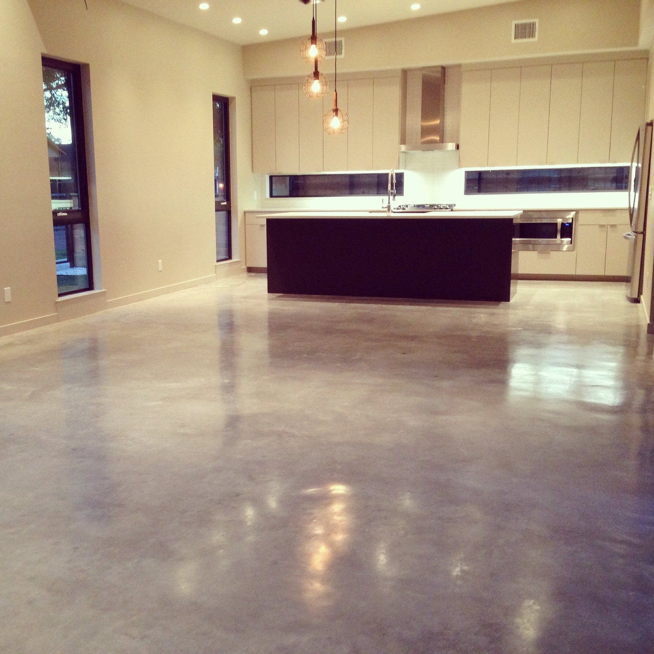 Gray Stained Floor Houston