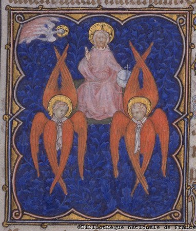 Illustration of seraphim from the Middle Ages.
