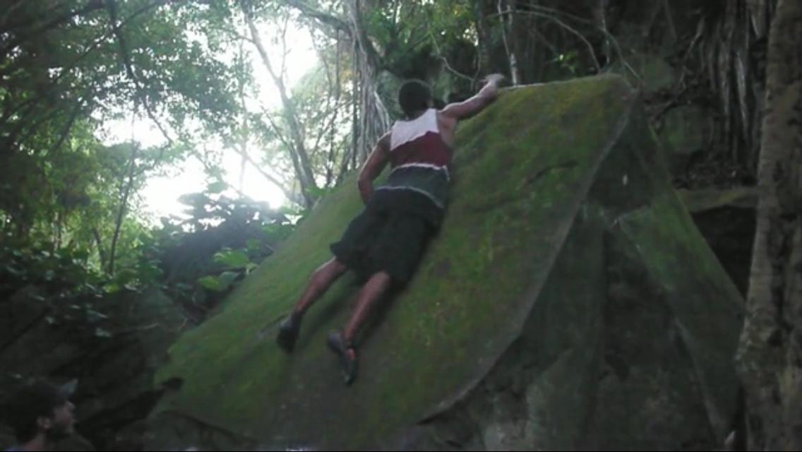 Screen grab of Angel Munoz lifting off. Film:Phil Langford