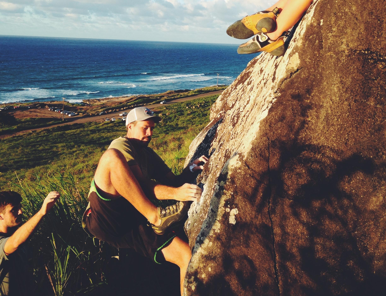 bouldering hawaii angels boulder peanut butter brain