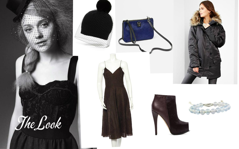 The Look: Dakota Fanning Marie Claire Photoshoot. Hat: BCBGMAXAZARIA, Bag:  GAP , Coat: GAP, Bracelet: David Yurman, Shoes:  Sam Edelman , Dress: Michael by Michael Kors.