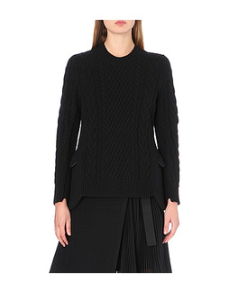 SACAI Cable-knit peplum detail jumper.jpeg