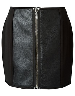 Anthony Vaccarello zip fitted skirt