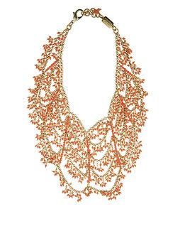 Rosantica Coral Bib Necklace