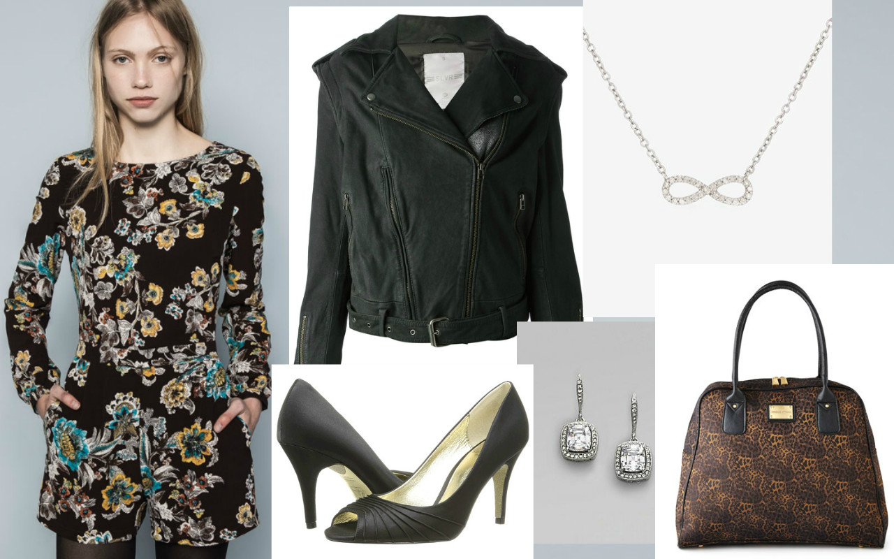 Jacket: Addidas Slvr, Necklace: Adina Reyter, Bag: Adrienne Vittadini, Earrings:  Adriana Orsini , Shoes: Adriana Pappel