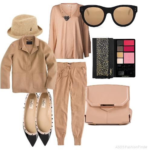 Hat:  Mühlbauer , Sweater:  Michael Kors , Necklace: Astley Clarke, Sunglasses: Linda Farrow, Eyeshadow Pallette: YSL, Pants: J.crew, Popover: J.Crew, Shoes:  Valentino Garavani , Bag: ALEXANDER WANG