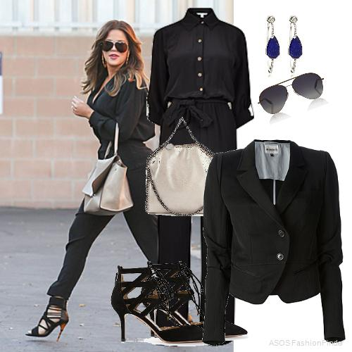 Jumpsuit:   Diane Von Furstenberg ,  Bag: Stella McCartney, Earrings: Stephen Dweck, Sunglassess: Victoria Beckham, Jacket: ANN DEMEULEMEESTER, Shoes:  Aquazzura