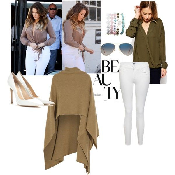 Blouse: ASOS , Wrap:  Madeline Thompson , Jeans: Paige, Pumps: Gianvito Rossi, Bracelet: Wet Seal, Sunglasses: Ray Ban