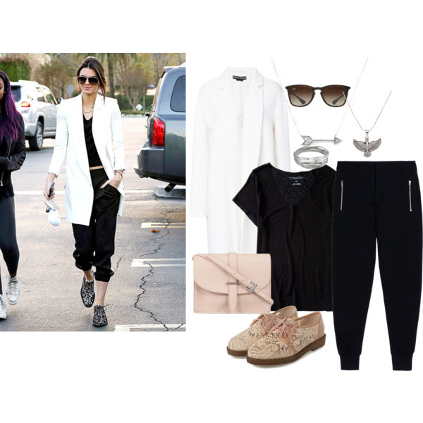 Tee: Aeropostale, Coat: Rochas, Pants: MCQ, Oxfords: Yesstyle, Bag: M.N.G, Bangles: Whistles, Necklace: Spirit of the Eagle and Adina Reyter, Sunglasses: Ray-Ban