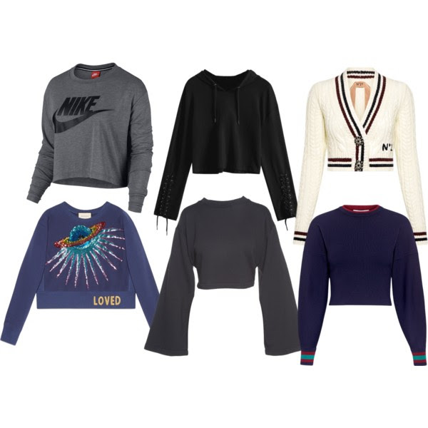 Top Row from the  Left:  Nike ,  Zaful ,  No. 21 . Bottom Row from the Left:  Gucci ,  T by Alexander Wang ,  Tibi .