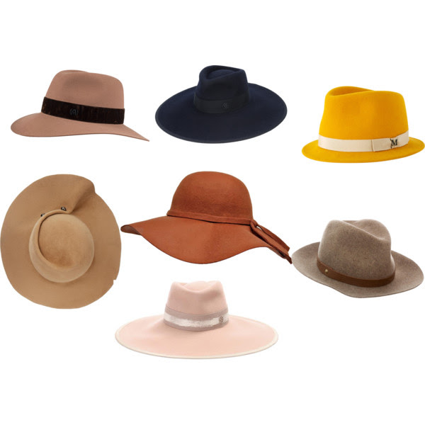 Top Row: All hats by  Maison Michel ,  Second Row from the left: Eugenia Kim,  Luxury Divas ,  Rag & Bone ,  Bottom hat:  Maison Michel