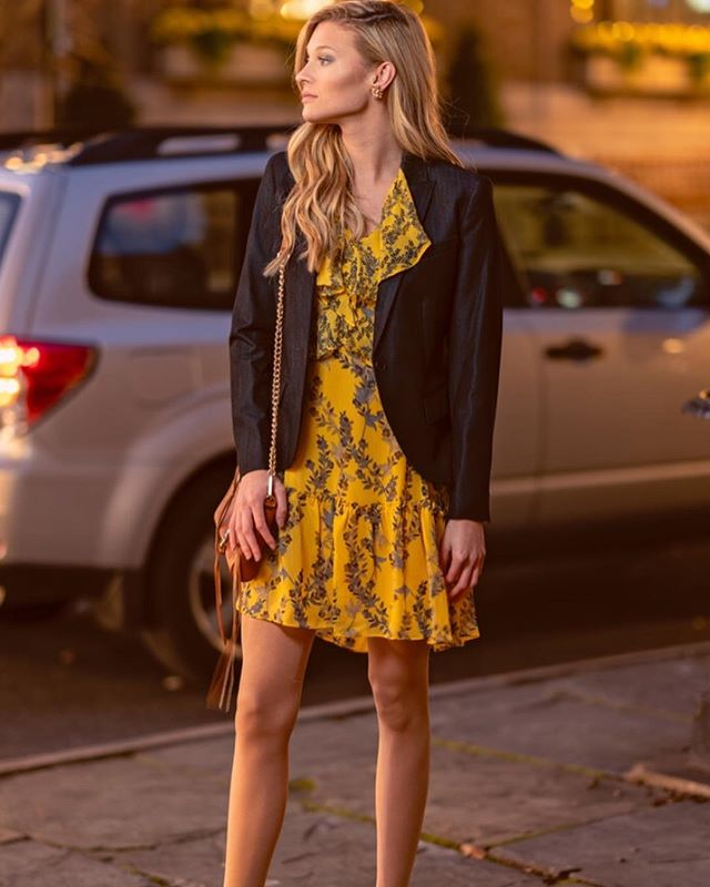 Let your hair go, slip on a yellow, floral, ruffle mini dress and metallic strappy pumps….perfect Easter dinner ensamble! #afashionpage #floraldress #easterdress #whattowear #trending #ootd #photography #style #fashion #getthislook #clothes #blogger #mystyle #springfashion #bethlehempa #lehighvalleypa #lehighvalley #model @chloesmith413 #makeup @aubreejerden #photoshoot @roundsjr #fashionstylist @stylistafashionpage