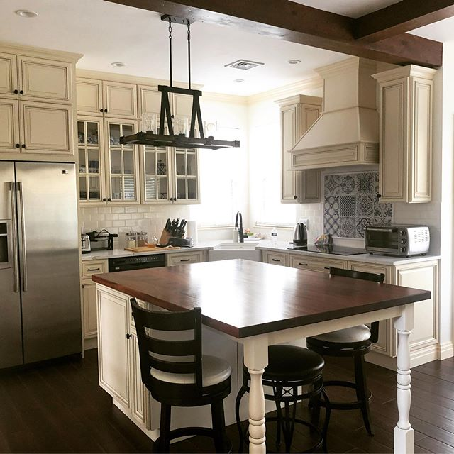So proud of my husband! This was my vision but his design and manual execution! #happybirthday to #myhusband #happywife  #kitchendesign #interiordesign #kitchen #kitchendecor #kitchensofinstagram #kitchenisland #kitchenrenovation #lehighvalleypa #lehighvalley