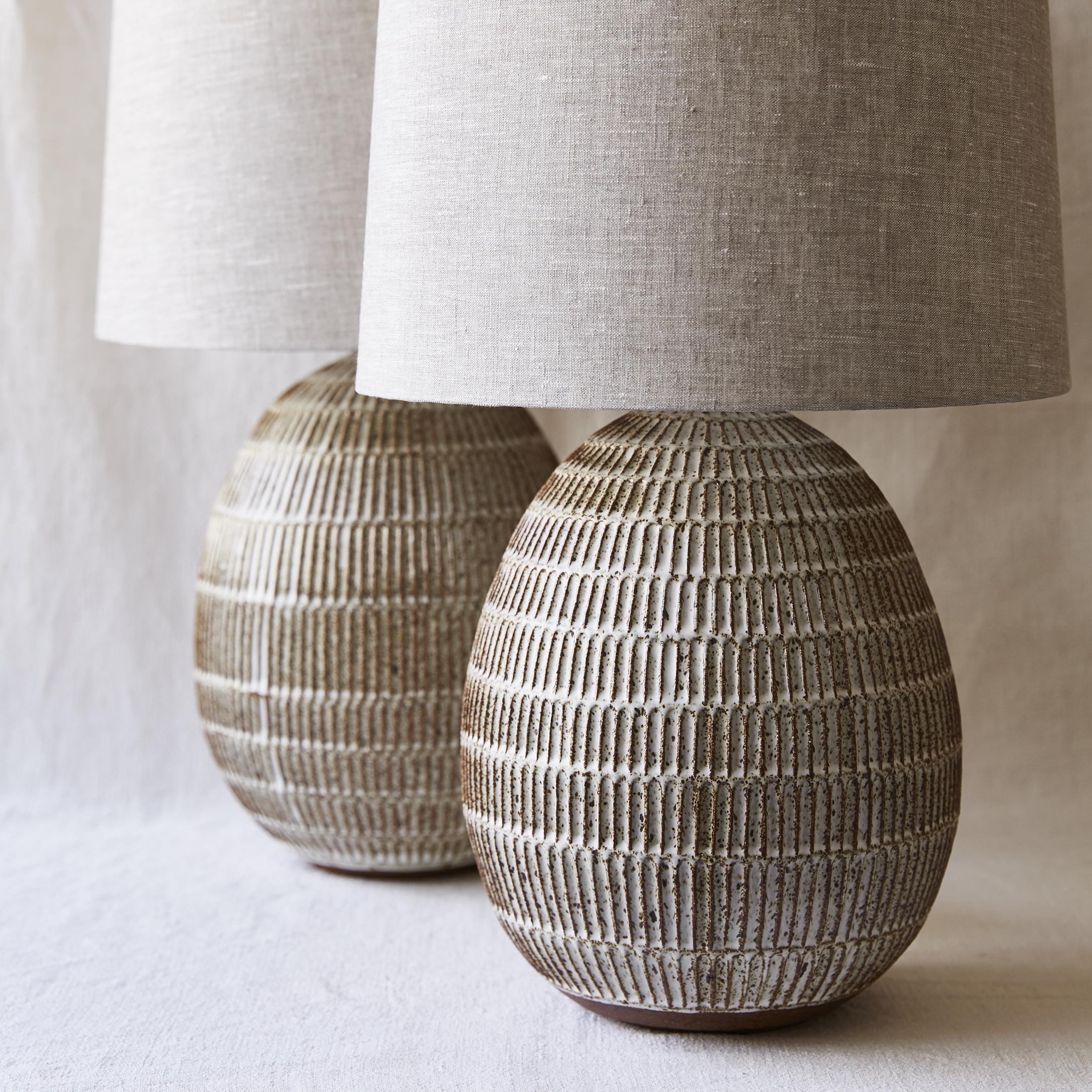 Mt Washington Pottery carved egg lamps sq.jpg