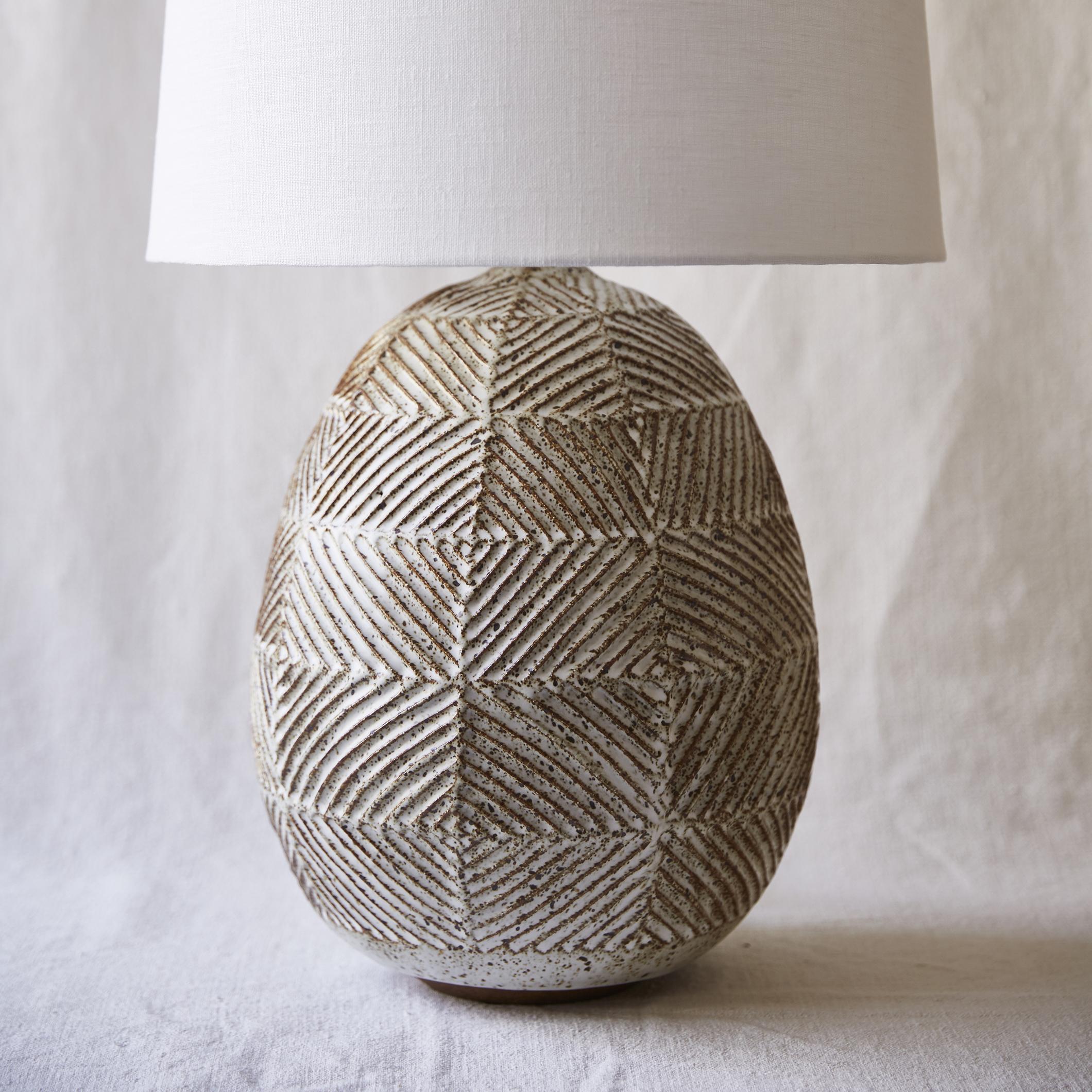 Mt Washington Pottery large diamond lamp.jpg