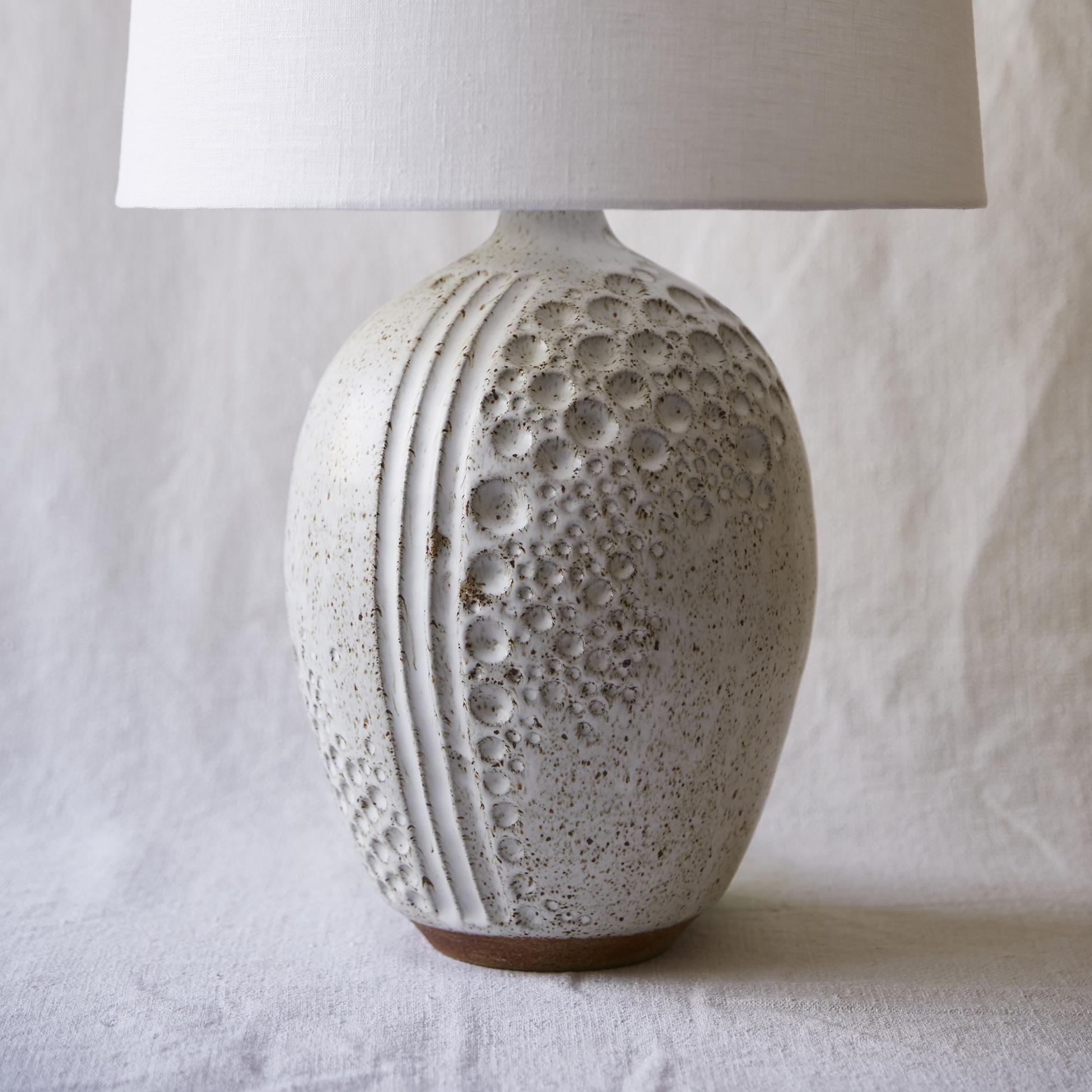 Mt Washington Pottery white moon lamp.jpg