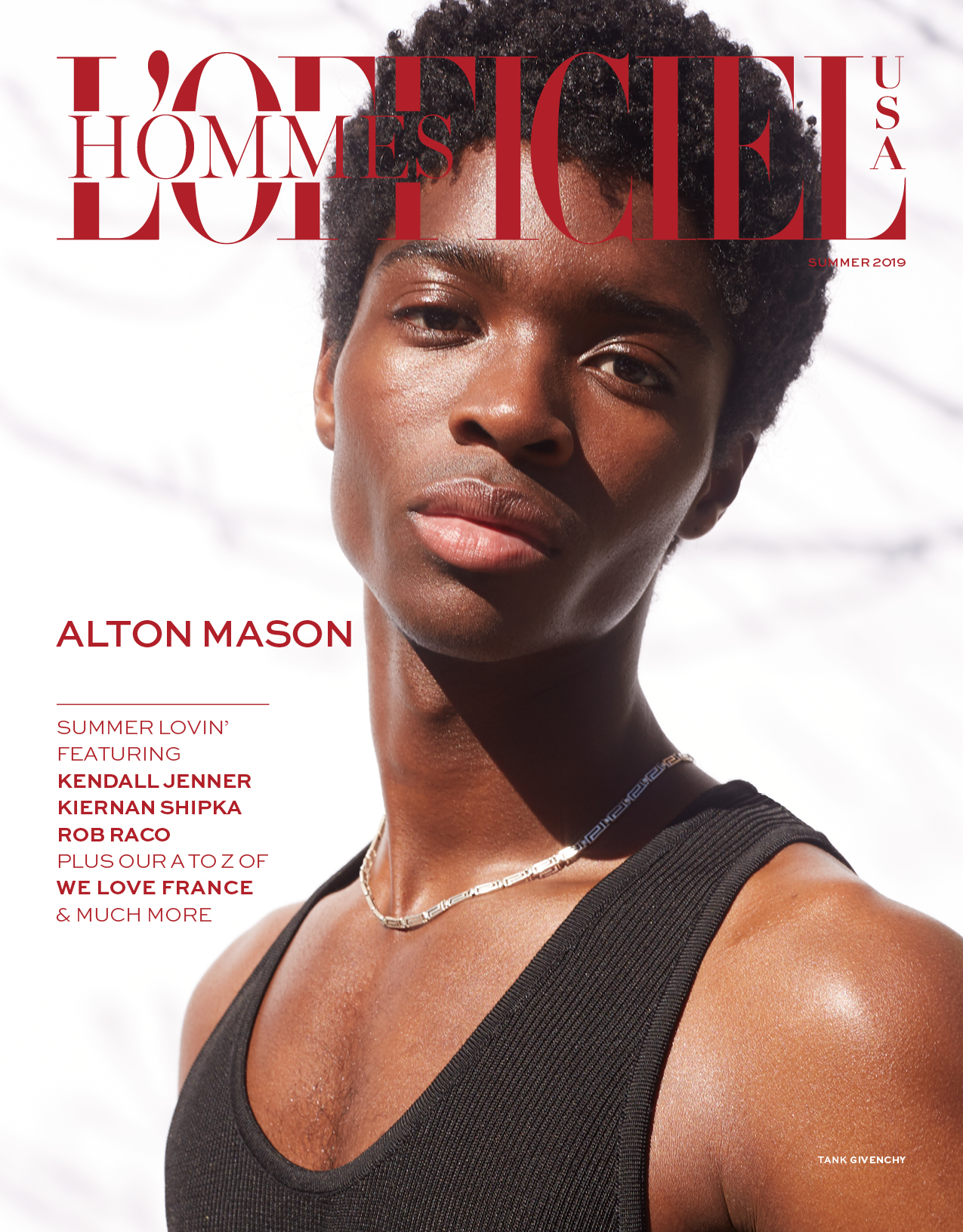 Alton Mason by Anthony Maule for L'Officiel USA