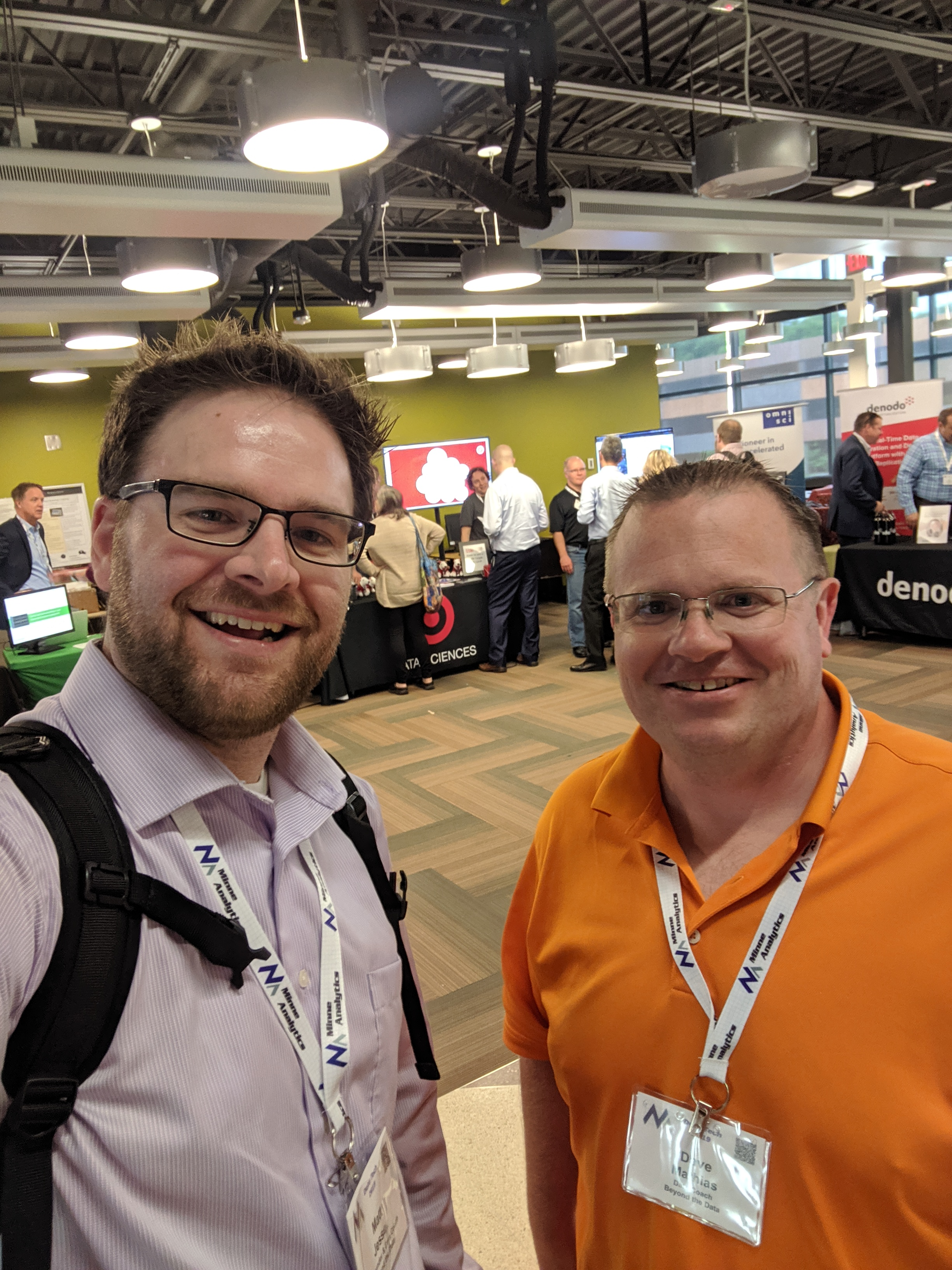 Matt and Dave checking out the vendor hall at Minneanalytics Data Tech 2019