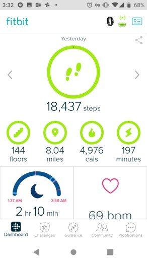 Source: Fitbit app screenshot