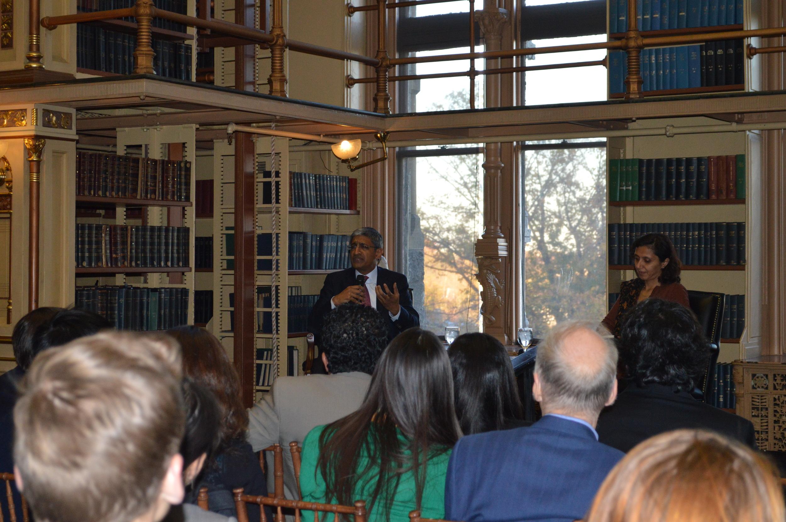 Shiv Khemka, Chairman TGELF at Riggs Library, Georgetown