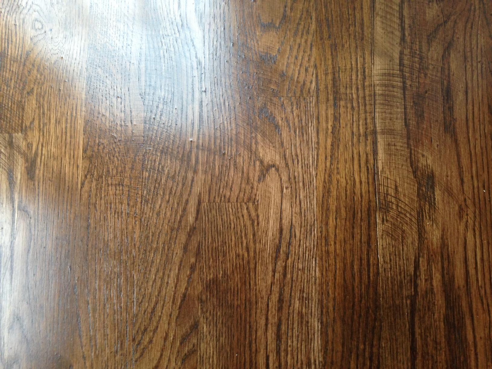Hardwood Floor With Swirls
