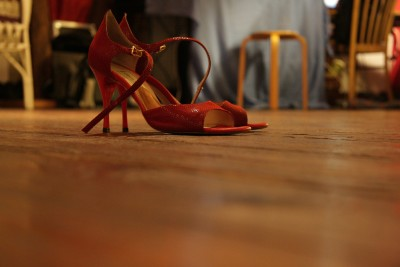 The dreaded heel kills hardwood floors all over the country every year.